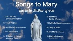 Songs to Mary, Holy Mother of God   10 Marian Hymns and Catholic Songs   Sunday 7pm Choir   ADCS - YouTube Hail Holy Queen, Hail Mary, Mary's Song, Songs, Queen Of Heaven, Catholic Books, Religious Pictures, Blessed Mother, Mother Mary