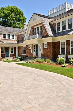 Cape Cod Shingle Style Home. Love the flower boxes.