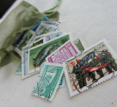 Your place to buy and sell all things handmade German Stamps, Small Drawstring Bag, Stamp Collecting, Scrapbook Supplies, Postage Stamps, Scrapbooks, Paper Art, Collections, Vintage