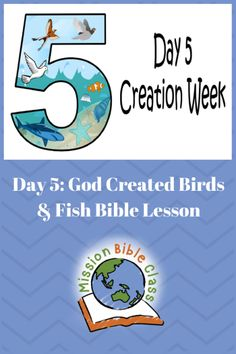 Day Created Birds and Fish – Mission Bible Class Kids Church Lessons, Youth Lessons, Sunday School Lessons, Sunday School Crafts, Preschool Bible Lessons, Bible Lessons For Kids, Bible Stories, Stories For Kids, Bible Study For Kids