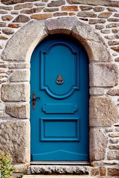 Puerta en Morbihan, Bretaña: