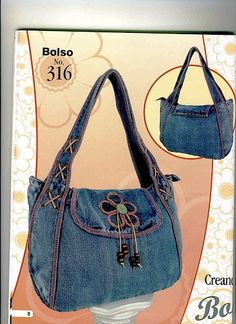 Best 10 Women's bag of jeans. Stylish bag of recycled jeans. An – SkillOfKing. Jean Purses, Purses And Bags, Denim Handbags, Denim Purse, Recycled Denim, Fabric Bags, Quilted Bag, Balenciaga City Bag, Handmade Bags