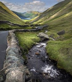Kirkstone Pass looking towards Brotherswater Lake District, England