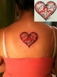 Puzzle Heart on Back - Cool Puzzle Piece Tattoo Design Ideas, http://hative.com/cool-puzzle-piece-tattoo-design-ideas/,