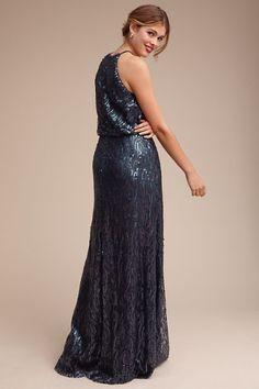 Midnight Sequined Alana Dress   BHLDN