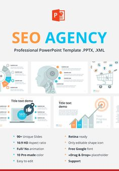 """Professional Template """"SEO Agency"""" - ideal solution for create report or presentation.KEY files) Retina ready Only Free Keynote Template, Brochure Template, Interaktives Design, Design Ideas, Design Inspiration, Slideshow Presentation, Software, Graphic Design Brochure, Professional Powerpoint Templates"""