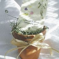 Flower pot wedding favours