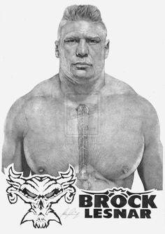 Brock Lesnar by Lucas-21 on deviantART ~ WWE ~ traditional pencil art