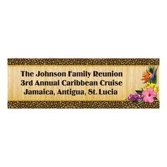 Personalized Paradise Safari Banner - Small - OrientalTrading.com  Get this to read:  Welcome to Mrs. Craig's Jungle!