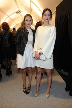 Ana Girardot and Clara Ponsot at the Valentino FallWinter 2013 Ready-to-Wear show as part of Paris Fashion Week on March 5th 2013 in Paris