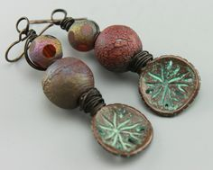 Beach Earrings Rustic Earrings, Rustic Beach Earrings, Hippie Earrings, Earthy Earrings,  #468-114 by ChrisKaitlynJewelry on Etsy