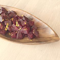 2014.11.06 Easy Beet Salad with orange zest and balsamic vinegar.  Made this today, very tasty.