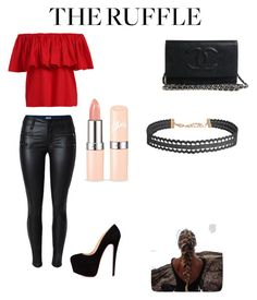 """""""The ruffles"""" by ramona-monzerrath-ramirez on Polyvore featuring Barneys New York, Humble Chic and ruffles"""