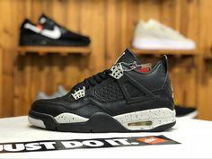 8babe886295886 Air Jordan 4 Retro LS Oreo Black Tech Grey-White Shoes 2019 Oreo Shoes