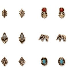 Forever 21 Geo Stud Set ($5.90) ❤ liked on Polyvore featuring jewelry, earrings, studded jewelry, stud earrings, forever 21 jewelry, geometric earrings and forever 21