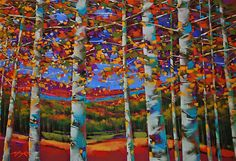Autumn Aspens ~ Michael McKee, pastel