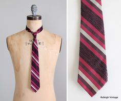 Vintage 1960s Mad Men Skinny Tie $16.00, via Etsy.