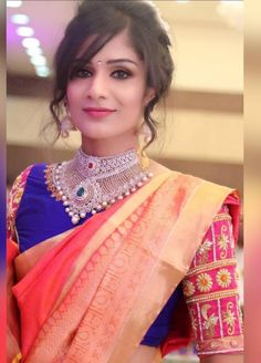 Saree Wedding, Chokers, Sari, Indian, Bride, 2 Step, How To Wear, Pictures, Beautiful