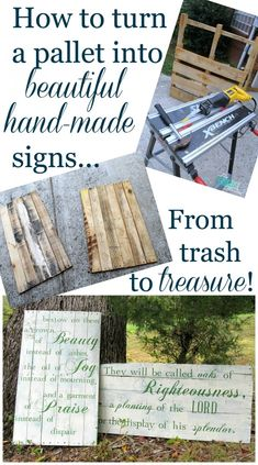 How to make a beautiful hand-painted sign from pallets! #diy