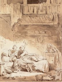Jean-Honoré Fragonard, Le Savetier, Musée du Petit Palais, Paris. Les Contes de La Fontaine, Editions Diane de Selliers.