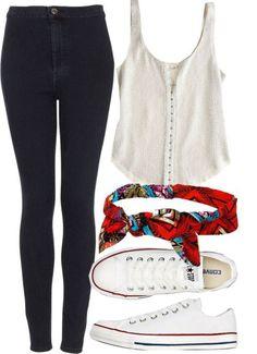 Imagem de outfit, converse, and jeans