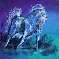 """Cerulean Arabian"" par Marcia Baldwin"