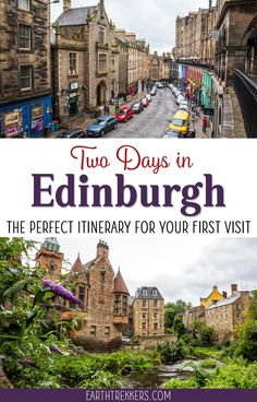 2 Days in Edinburgh: The Perfect Itinerary for Your First Visit Edinburgh, Scotland: Two Day Itinerary. Best things to do with 48 hours in Edinburgh, including Arthurs Seat, Old Town, Royal Mile. Scotland Vacation, Scotland Travel, Ireland Travel, Scotland Trip, Glasgow Scotland, Scotland Food, Scotland Funny, Inverness Scotland, Scotland Castles