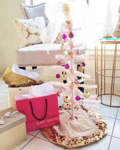 Pink and Gold Christmas Tree | Simply Jessica Marie