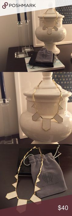 House of Harlow 1960 Necklace House of Harlow 1960 Station Pyramid Necklace in Gold and Off White, with dust bag 💛 House of Harlow 1960 Jewelry Necklaces