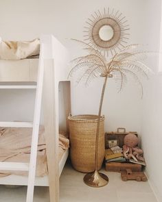 in the shared charming boho kids bedroom.Lots of neutral tones hints of gold and blush. Via my scandinavian home Boy Room, Kids Room, Scandinavian Kids, Decoration Ikea, Kids Bedroom Designs, Little Girl Rooms, Interiores Design, Room Inspiration, Bedroom Decor