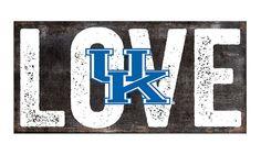 NCAA Kentucky Wildcats 12 x 6 Mom Wood Sign