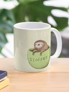 """Sloffee"" Mug by SophieCorrigan   Redbubble Mugs For Men, Coffee Mugs, Tea Mugs, Mug Shots, Mug Designs, Custom Mugs, Ceramics, Canning, Tableware"