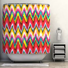 Chevron Waterproof Shower Curtain