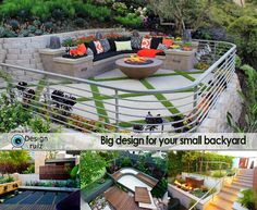 Who says that you cannot have a nice, stylish and comfy space to enjoy your free time in your small backyard?