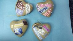 Students each decorated a heart with words that made them think of their loved one who had passed.