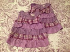 1989 Place 2T Lavender tiered ruffled blouse $2 each