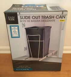 Kitchen Under Sink Cabinet Trash Waste Garbage Can Slide Out Storage Organizer