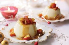 Gorgeous cinnamon panna cotta served with caramelised apples. This rich and indulgent pudding is a real treat. See more dessert recipes at Tesco Real Food.