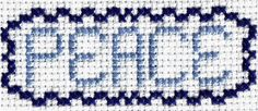 Free Cross Stitch Pattern - Peace - Christmas Cross Stitch Pattern: Free Cross Stitch Pattern - Peace Model Photo