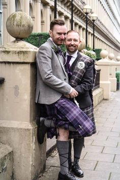 Jasyn and Jonathan were married at the Hilton Grosvenor Hotel in Glasgow's West End, wearing Scotland Forever and Lomond Mist tartan. Read more about their day here!