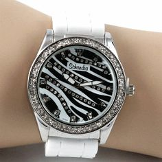 Zebra Bling Watch