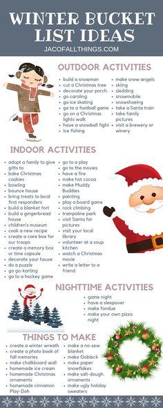 Winter Bucket List Ideas and Activities