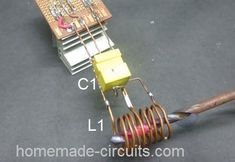 The couple of proposed induction heater circuits exhibits the use of high frequency magnetic induction principles for generating substantial magnitude of heat over a small specified radius. Led Projects, Circuit Projects, Diy Electronics, Electronics Projects, Arduino, Induction Heating, Electronic Schematics, Diy Cnc, Smart Home Automation