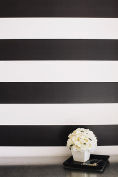 """Removable Wallpaper. Panels measure 2 feet by 4 feet. Stripes that can be used verically or horizontal. Stripes measure 6"""". $25 per panel"""