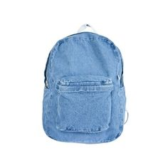 Denim School Bag ($46) ❤ liked on Polyvore featuring bags, backpacks, accessories, bolsas, american apparel bag, knapsack bag, backpack bags, american apparel and denim backpack