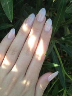 Minhly's Nails - Santa Barbara, CA, United States. Natural acrylic almond-shaped nails done by Minh!