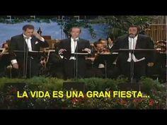 La Traviata -Los 3 Tenores (Subtitulada Español)-Libiamo Ne' Lieti Calici