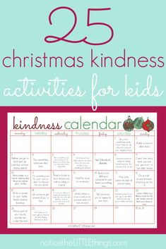 encourage kindness this christmas with 25 acts of kindness for kids. use with the kindness elves tradition or by itself to inspire the true meaning of christmas in your home! Kindness Activities, Advent Activities, Christmas Activities For Kids, Kids Christmas, Christmas Neighbor, Neighbor Gifts, Xmas, Family Traditions, Christmas Traditions