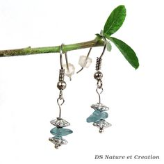 Ethnic jewelry apatite earrings tribal by DSNatureetCreation https://www.etsy.com/listing/243556786/ethnic-jewelry-apatite-earrings-tribal