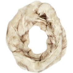 Cream faux fur twist snood - scarves - accessories - women